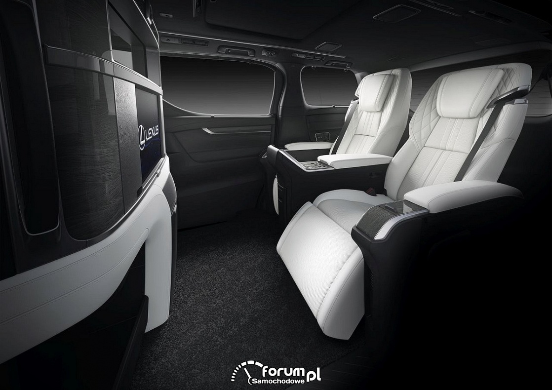Lexus LM, wnętrze wersji 4-osobowej