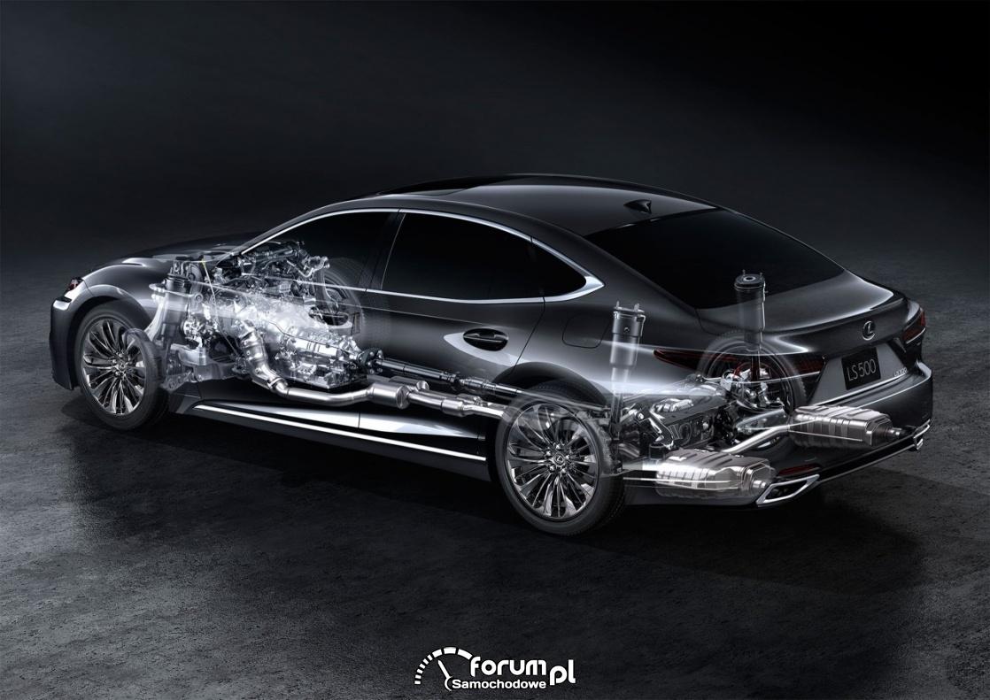 Lexus LS 500, V generacja, układ napędowy
