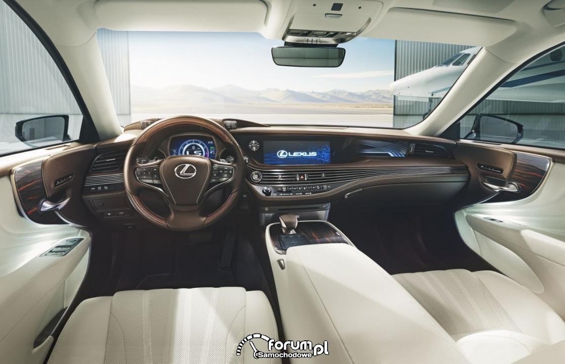 Lexus LS 500, wnętrze