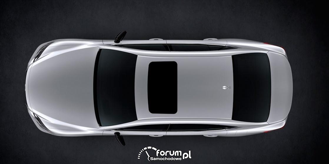 Lexus LS 500 XF50, widok z góry