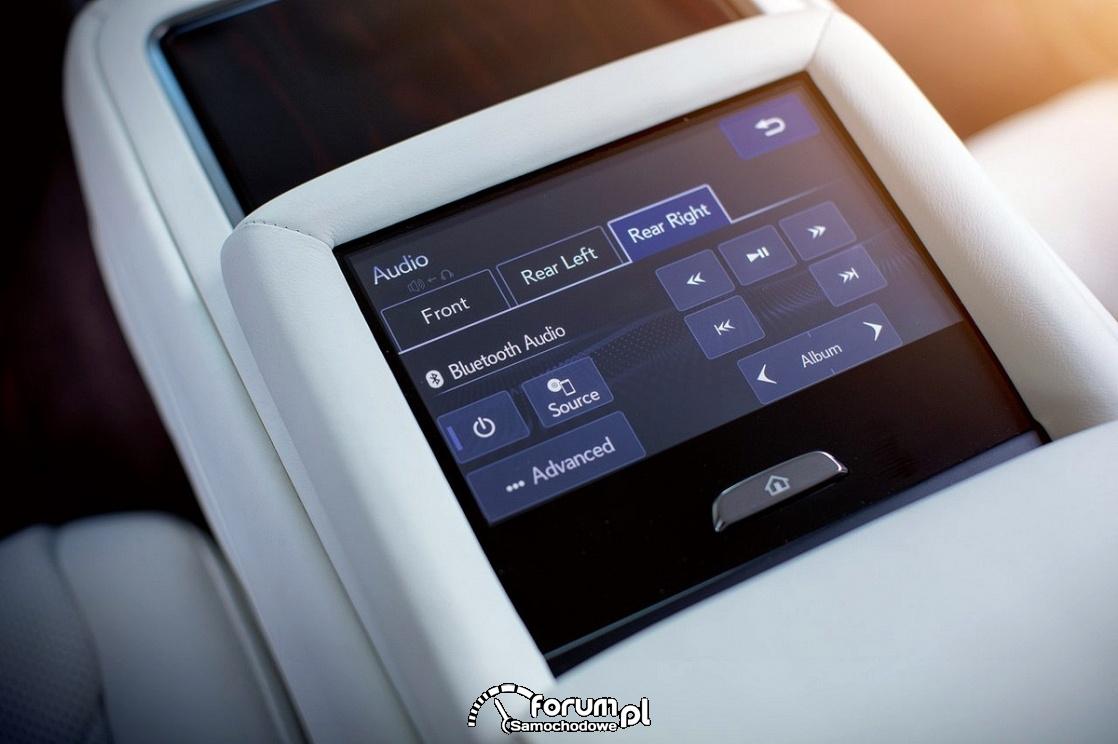 Lexus LS 500h, sterowanie systemem audio