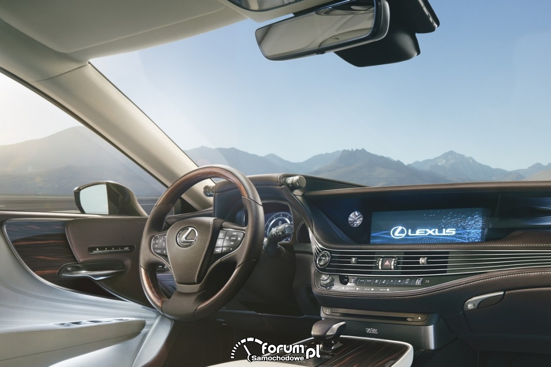 Lexus LS 500h, wnętrze, kokpit