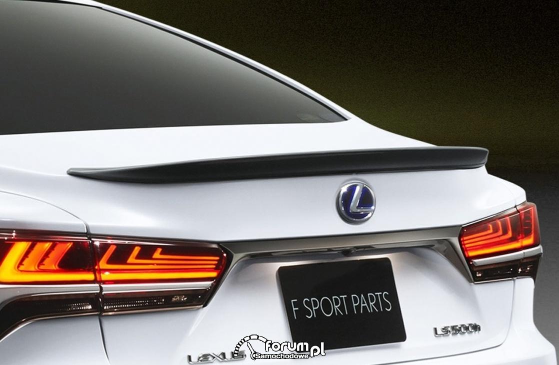 Lexus LS TRD, tylny spojler