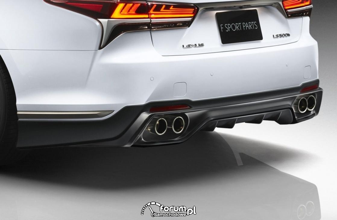 Lexus LS TRD, wydech