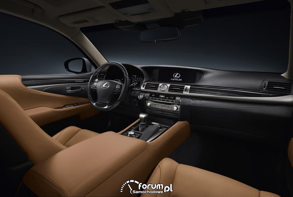 Lexus LS460, wnętrze, deska rozdzielcza