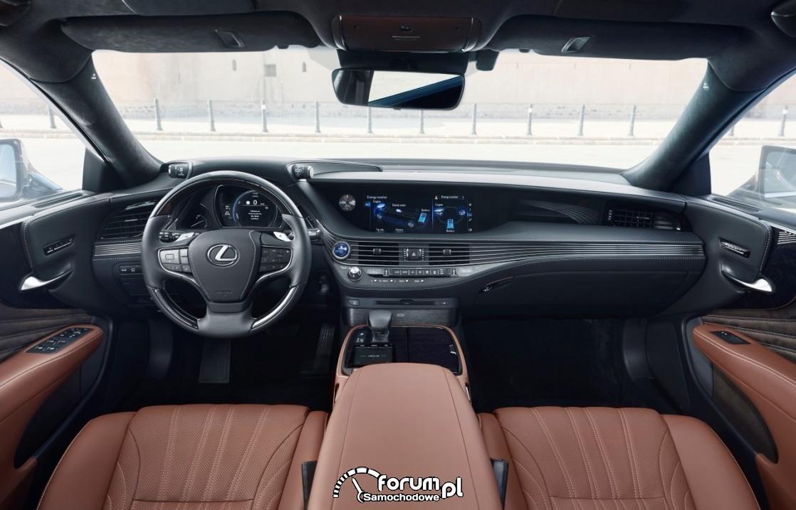 Lexus LS500h, deska rodzielcza