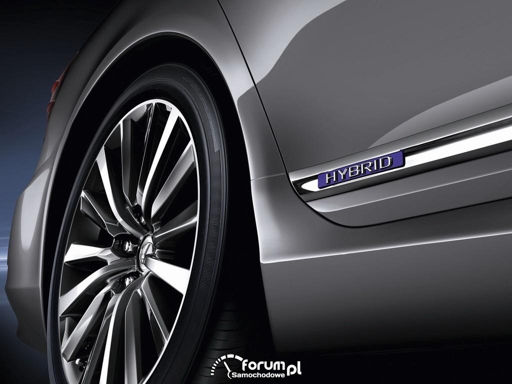 Lexus LS600hL HYBRID, oznaczenie modelu hybrydowego