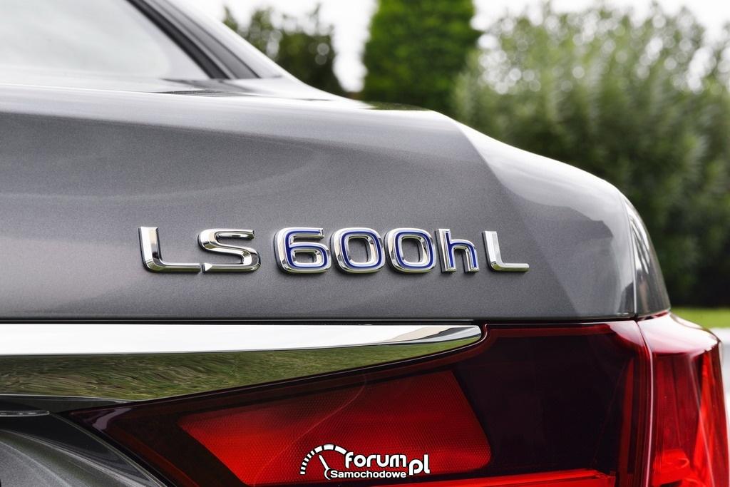 Lexus LS600hL, oznaczenie na klapie