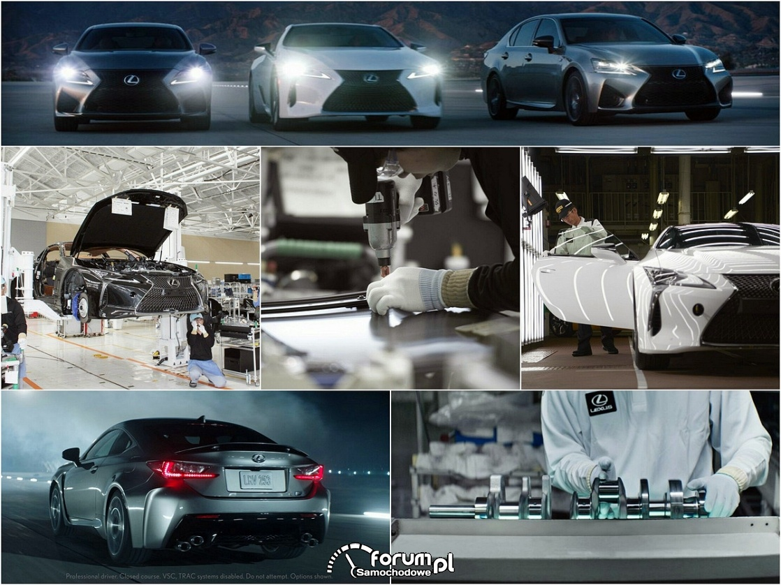 Lexus, ludzie, produkcja