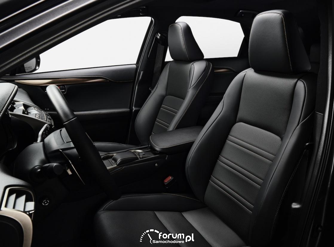 Lexus NX black, przednie fotele