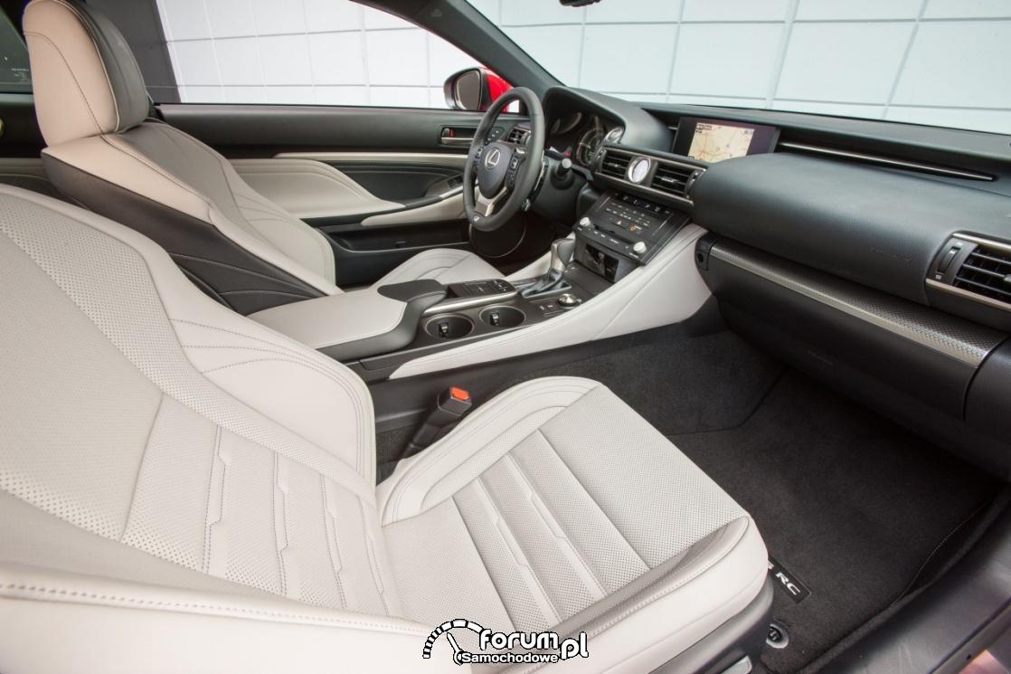 Lexus RC 200t F sport, skórzane, wentylowane fotele
