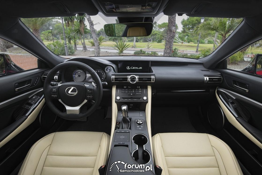 Lexus RC 300h, wnętrze