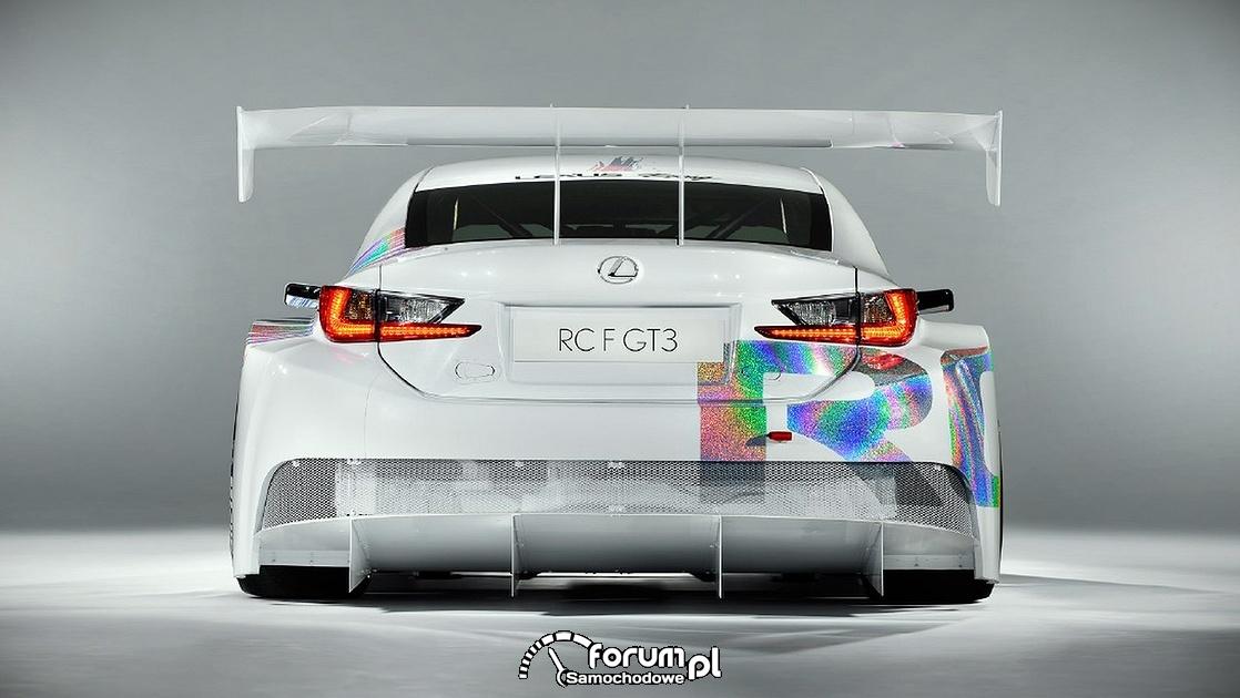 Lexus RC F GT3, tył