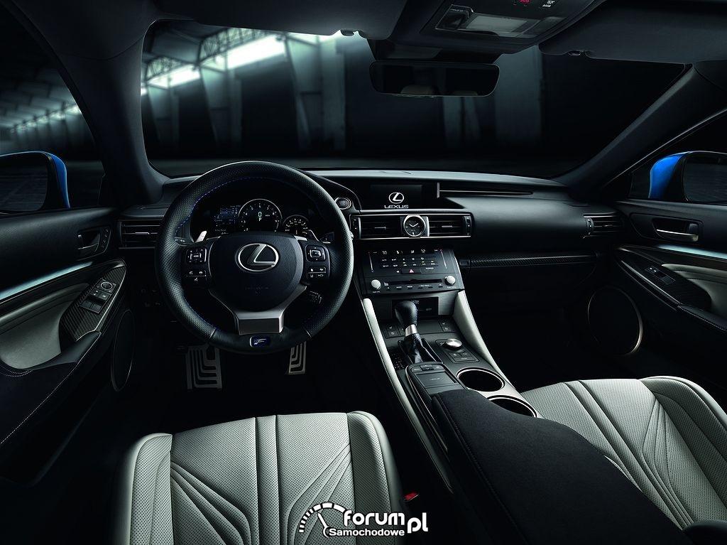 Lexus RC F, wnętrze