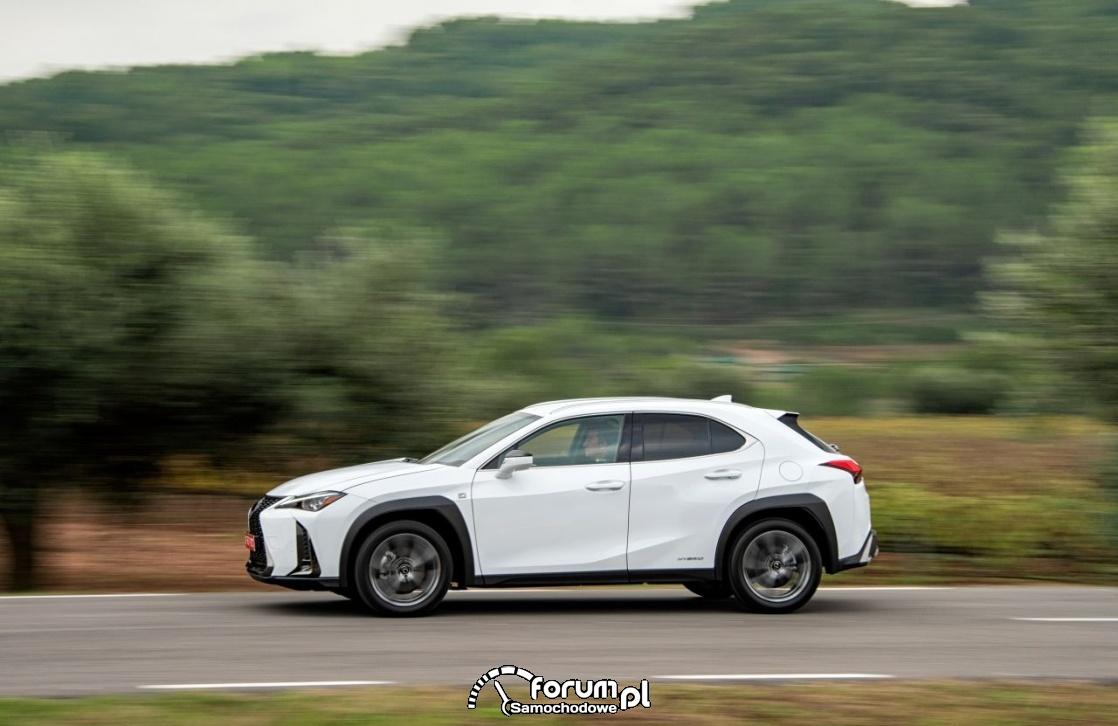 Lexus UX 250h, white, bok