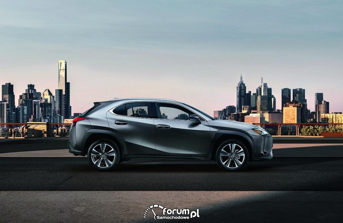 Lexus UX – porównanie wymiarów z NX i RX