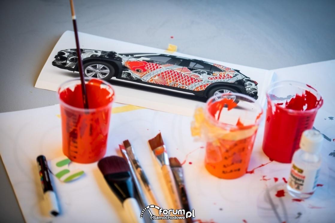 Lexus UX - tattoo, farby