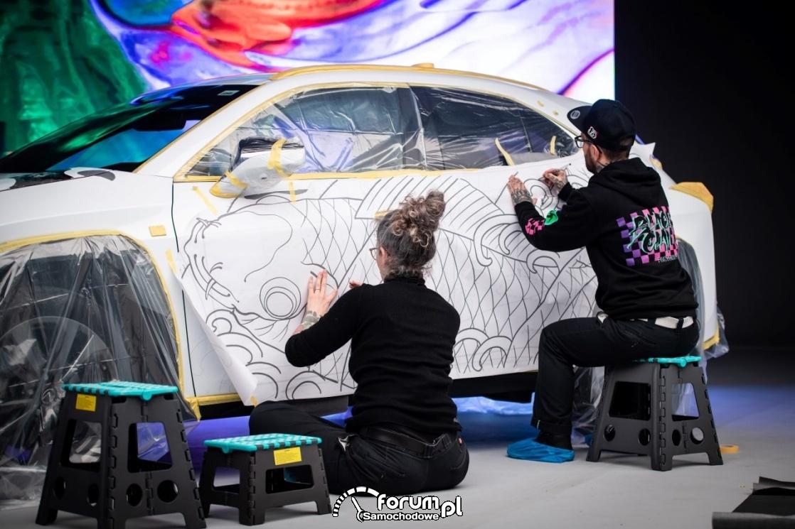 Lexus UX - tattoo, przygotowanie