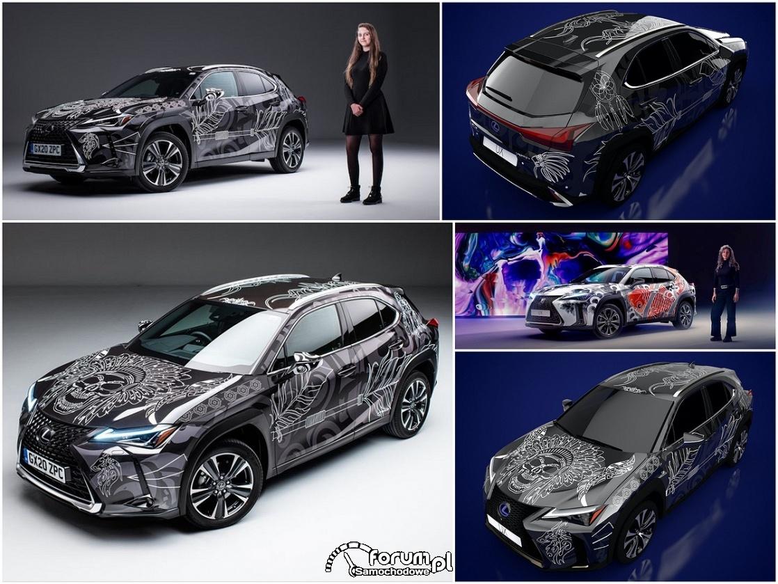 Lexus UX z pióropuszem