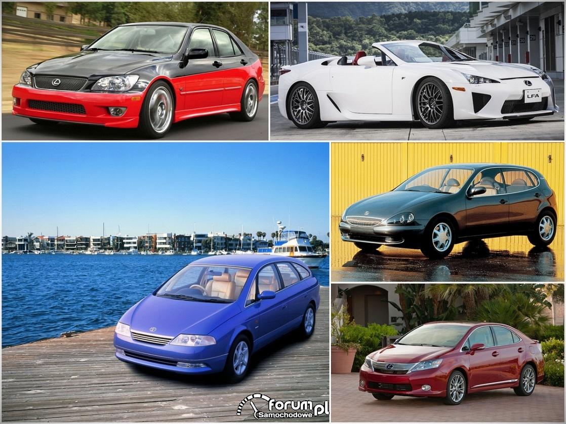 Rzadko spotykane samochody Lexusa. Znasz wszystkie?