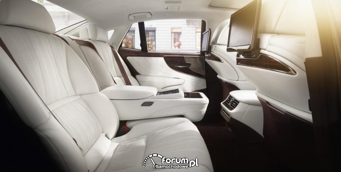 Tylne fotele, Lexus LS 500h
