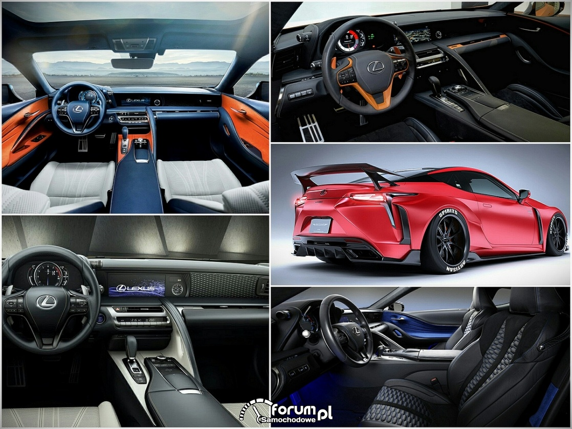 Wyjątkowe wersje Lexusa LC, wnętrze