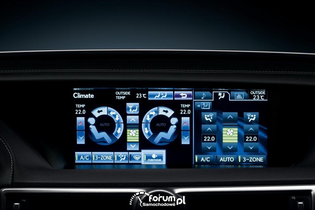 Wyświetlacz klimatyzacji Lexus GS450h