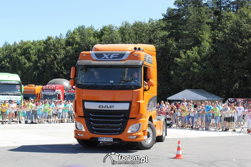 DAF XF Euro6, plac manewrowy