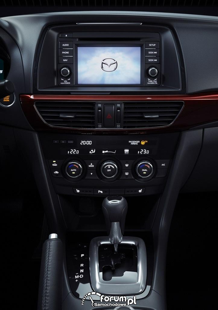 Mazda6, konsola środkowa, 2012