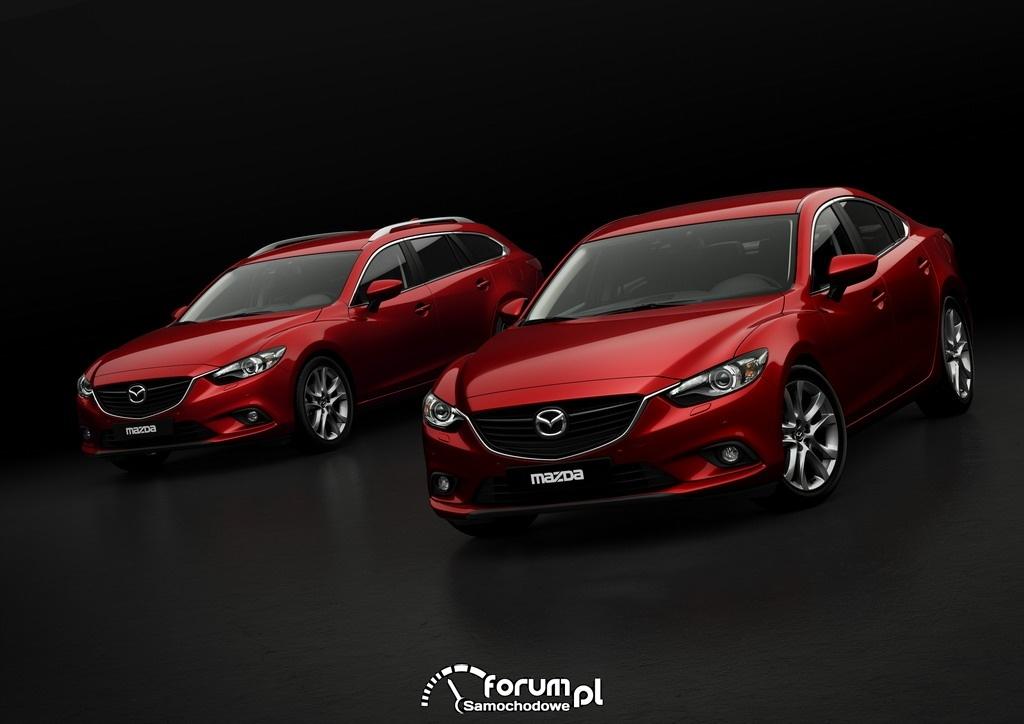 Mazda6 Sport kombi, Mazda6 sedan, przód, 2012