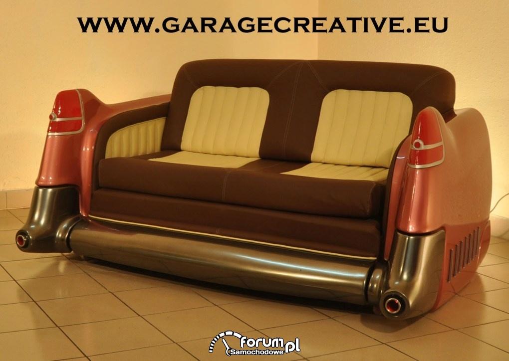Sofa Cadillac Fleetwood 1955r