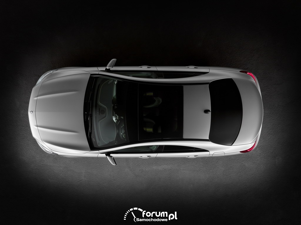 Mercedes-Benz CLA, widok z góry