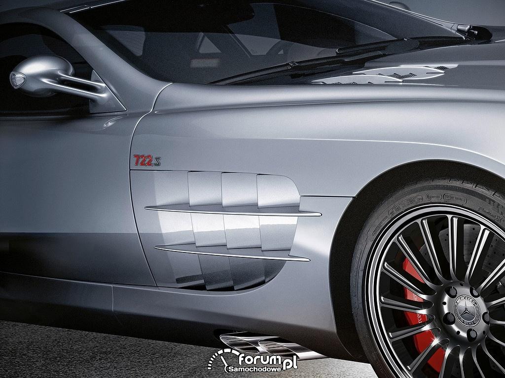 Mercedes-Benz SLR Mclaren Roadster 722s, wloty powietrza