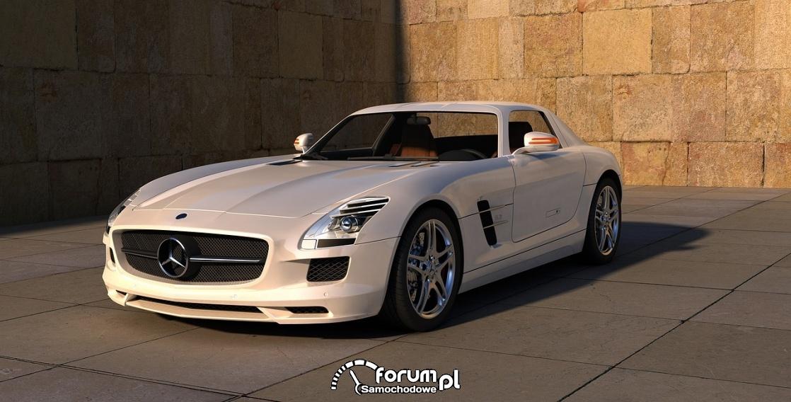 Mercedes SLS AMG, biały
