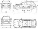 Mitsubishi Outlander I wymiary