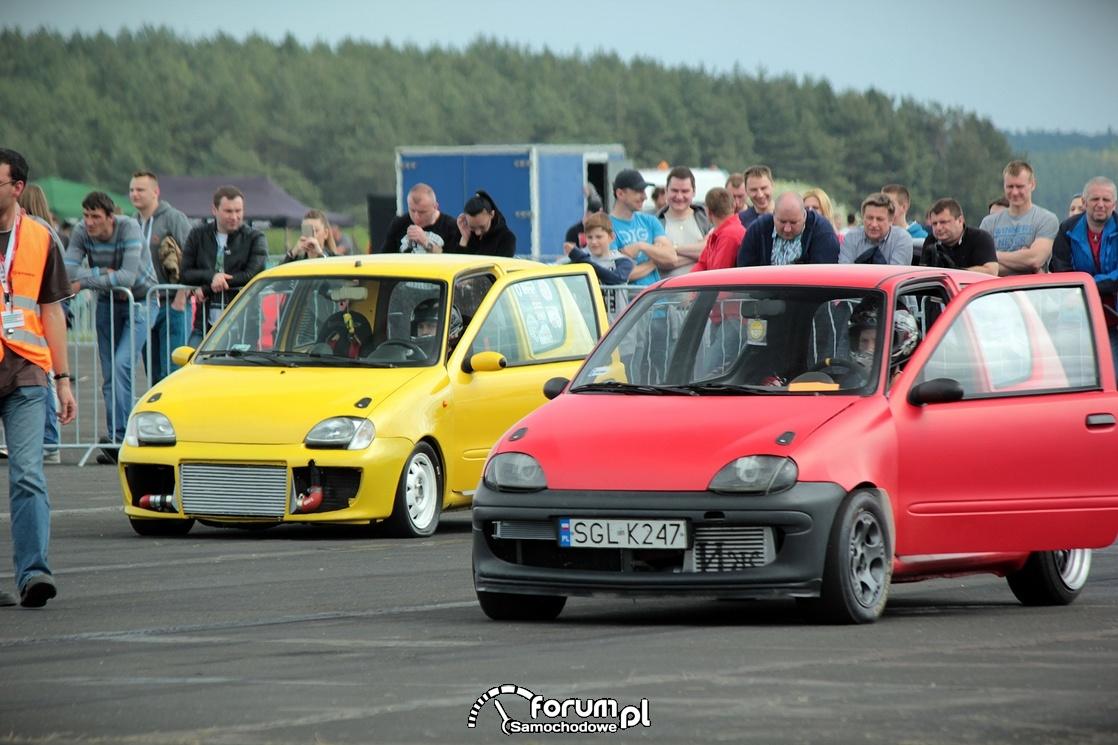 Fiaty Seicento w wyścigach równoległych