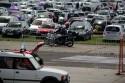 Parking samochodów na Moto Pikniku