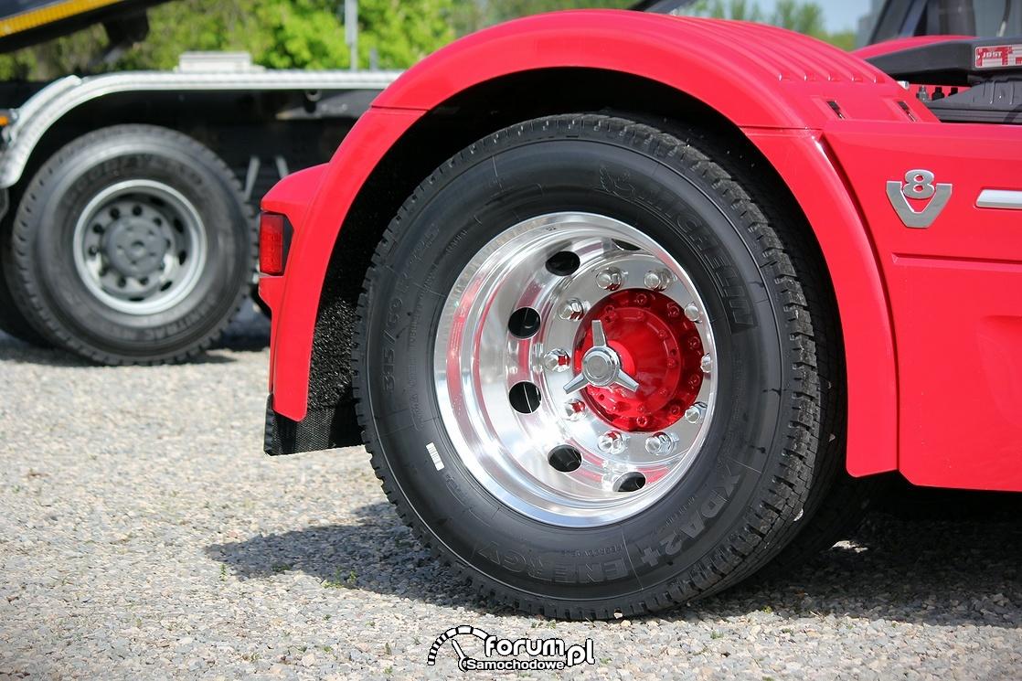 Scania R580 V8, alufelgi