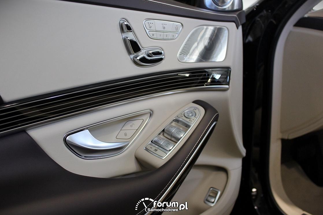 Panel sterowania siedzeniami i oknami w drzwiach kierowcy, Maybach S600 V12