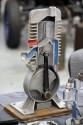 Przekrój cylindra z tłokiem
