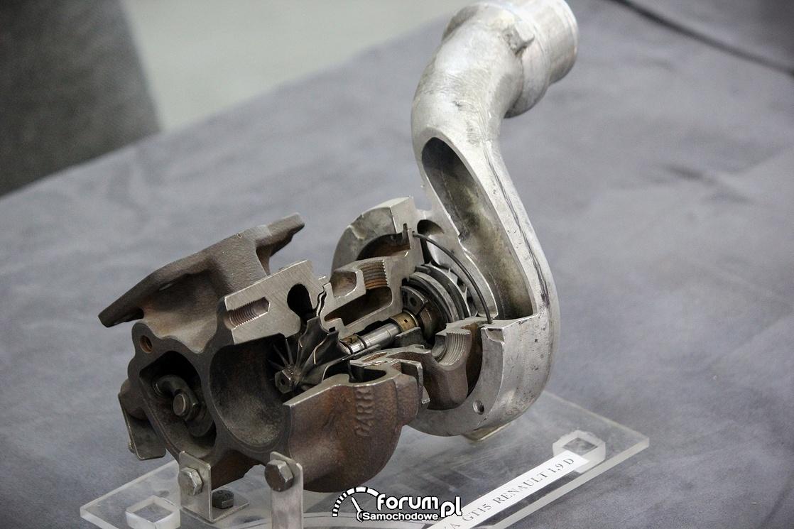 Przekrój turbosprężarki, Renault 1,9D