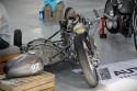 Zabytkowy motocykl wyścigowy z koszem