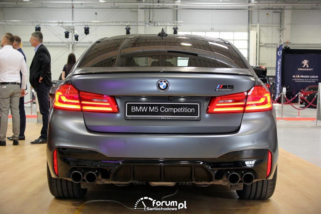 BMW M5 Competition, tył
