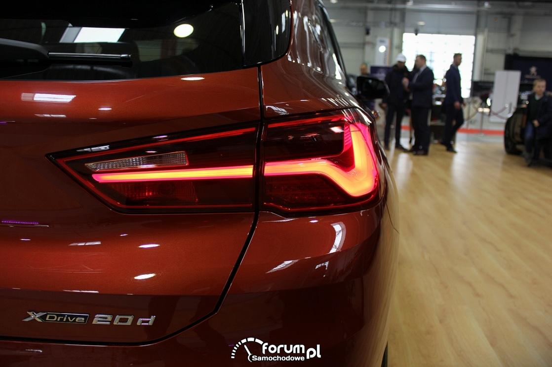 BMW X2, tylne światła LED