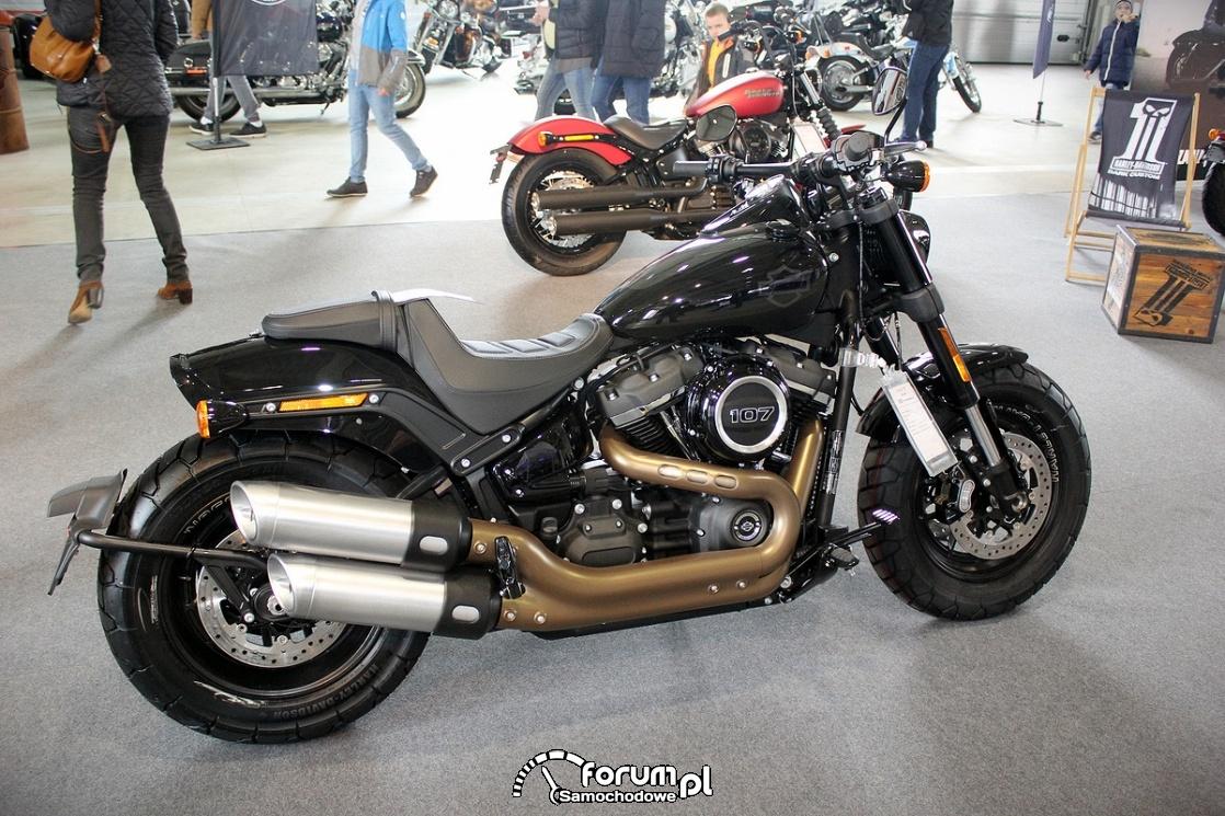 Harley Davidson Fat Bob 107, bok