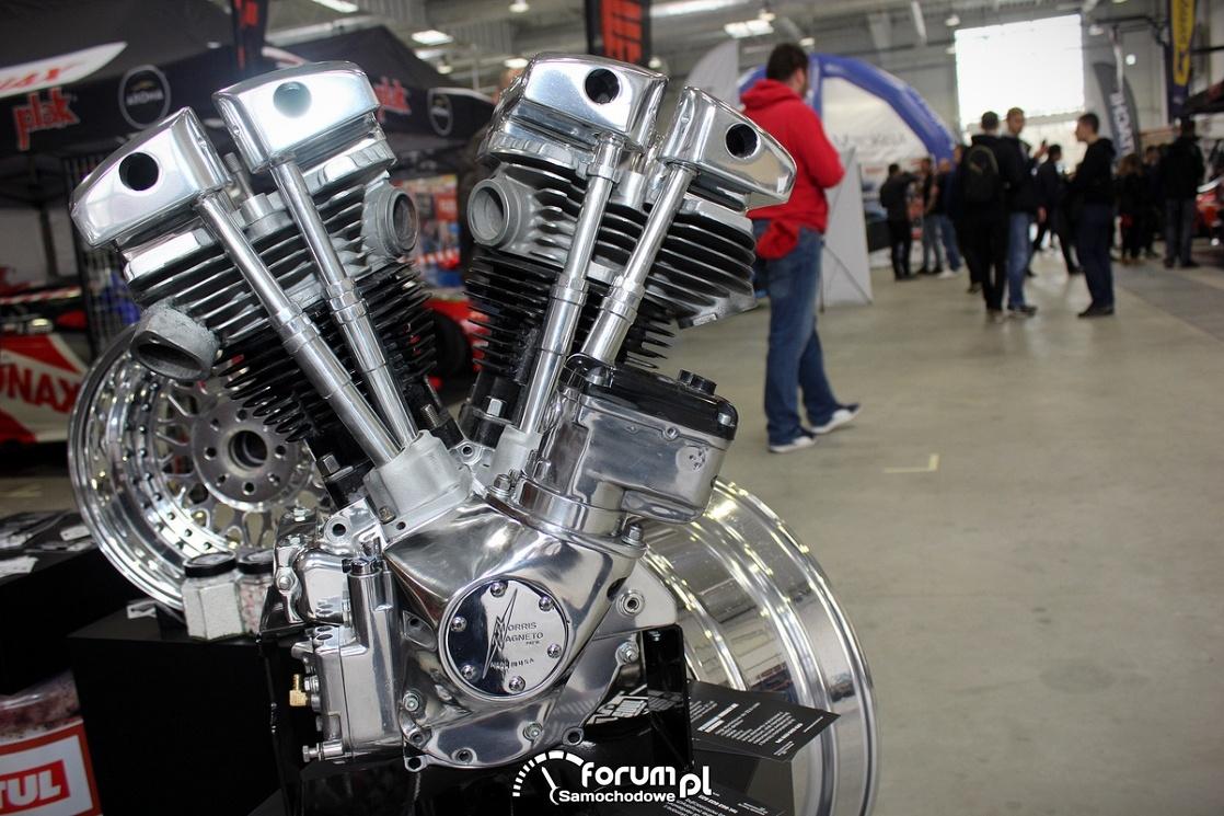 Silnik motoru, polerowane aluminium