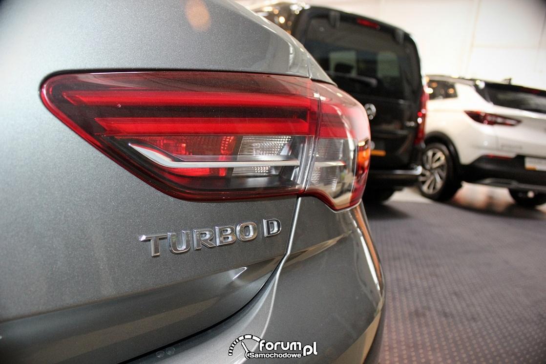 Tylna lampa Opel Insignia Turbo D