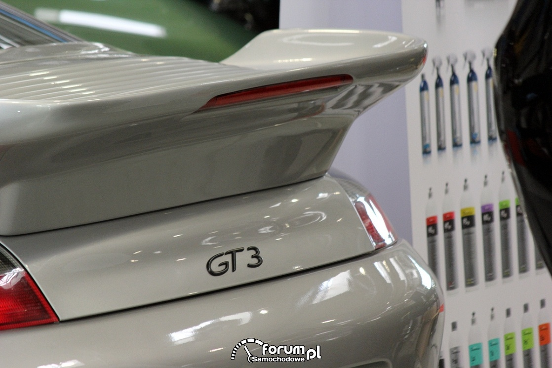 Porsche GT3, tylna płetwa
