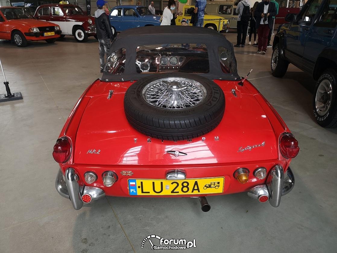Triumph MK2 Spitfire, tył