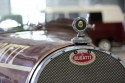 Znaczek i logo Bugatti, old car